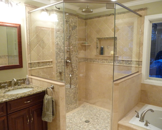Uniquely Transitional Bathroom Remodel