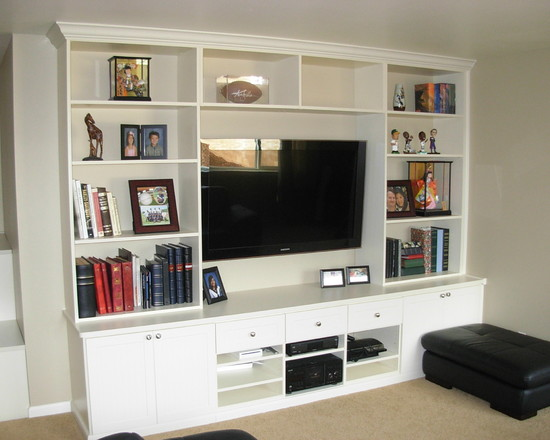 Entertainment Center In Ivory