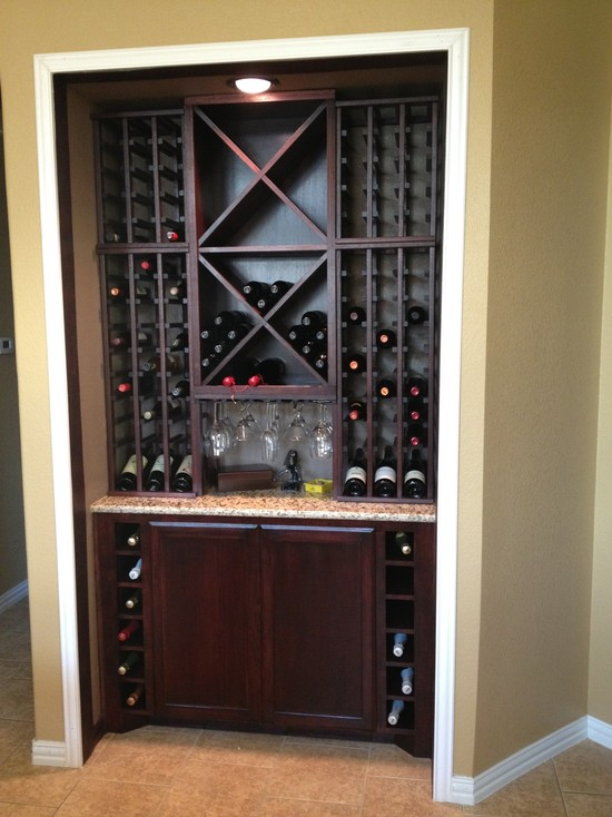 Custom Kitchen Wine Cabinet